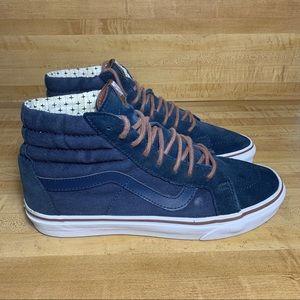 Vans Sk8 Hi High Top Skateboard Navy Blue Shoes